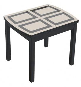 Обеденный раздвижной стол со стеклом  «Тенор Т3» С-433