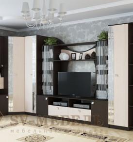 Гостиная  «Гамма 15″ Шкаф (венге/дуб)
