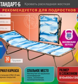 Кровать раскладная Стандарт-Б жесткая