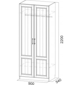 Гостиная  «Прованс» шкаф 2-х дверный