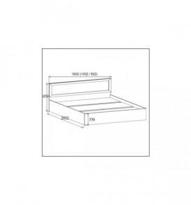 Спальня  «Вега» Кровать двойная —  универсальная ВМ-15 (1.60*2.0)