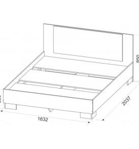 Спальня   «Лагуна 2″ кровать двойная  (1.60*2.0м)