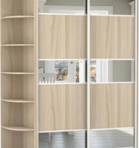 2-х двер,корпус Шимо свет, двери ДСП, зеркало.15320