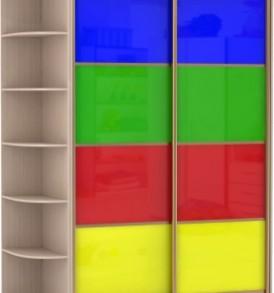 2-х дв,корпус Дуб мол,двери стекло цветное 21110