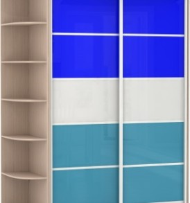 2-х дв,корпус Дуб мол,двери стекло цветное 21320