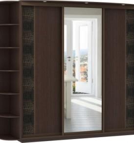 20690 3х двер.Оптим, корпус Венге, двери экокожа, ДСП, зеркало