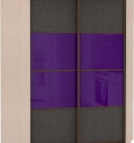 21070 Шкаф купе Угловой, корпус Дуб молочный, двери экокожа, стекло цветное