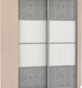 21070 Шкаф купе Угловой, корпус Дуб молочный, двери стекло цветное, экокожа
