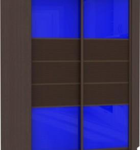 21240 Шкаф купе Угловой, корпус Венге, двери стекло цветное, бамбук