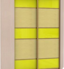 21400 Шкаф купе Угловой, корпус Дуб молочный, двери стекло цветное, бамбук