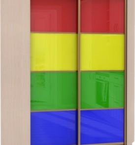 23040 Шкаф купе Угловой, корпус Дуб молочный, двери стекло цветное