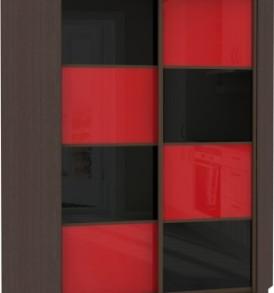 23040 Шкаф купе Угловой, корпус Венге, двери стекло цветное.