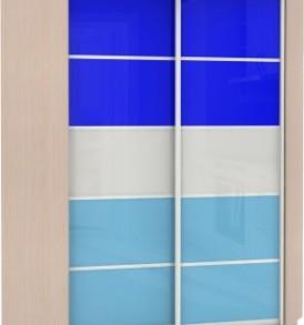 Шкаф купе Угловой Оптим,  корпус Венге, двери стекло цветное, бамбук