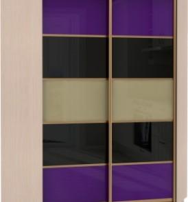 Шкаф купе Угловой Оптим, корпус Венге, двери стекло цветное