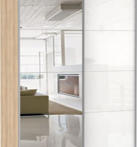 31790 Эста 2-х дверный зеркало,стекло белое