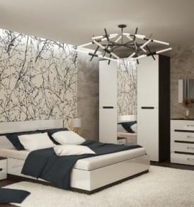 Спальня   «Вегас»  Комод ( венге/ белый глянец)