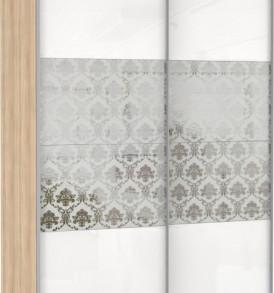 Шкаф купе 2 двер. «Эста» двери зеркала, стекло Барокко