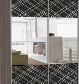38390 Эста 2-х дверный зеркала, стекло Диско