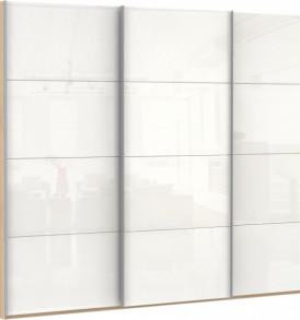 47190 3х двер. 12 стекло белое