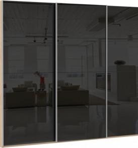 47190 3х двер. 12 стекло черное