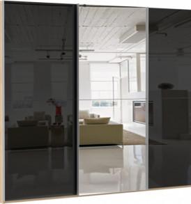 47190 3х двер. 4 зеркал, 8 стекло черное