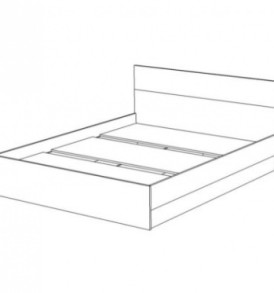 Кровать «Юнона» 1.60 с щитовым основанием под матрац