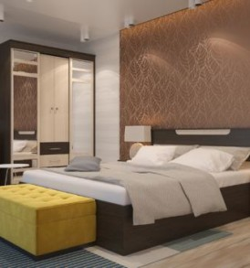 Кровать «Юнона» Комби 1.40м