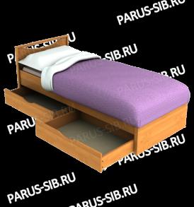 Кровать «Соло» — 800 с ящиками  ( шимо т/св)