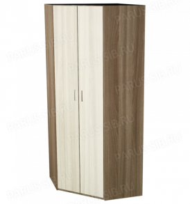 Шкаф «Пегас-5″ угловой (венге/дуб)