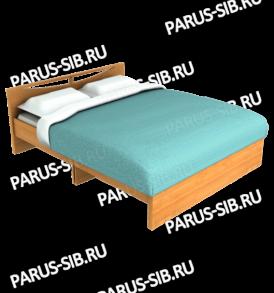 Кровать «Соло» -1600 без ящиков (ясень шимо темный/ светлый)