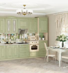 Кухня Оливия Грин стол с колоннами  72.62