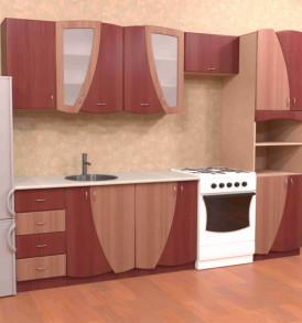 Кухня с пеналом «Юлия» 2,8 (МДФ)