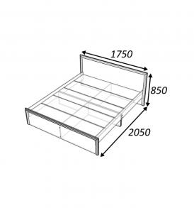 Модульная система «Классика» Кровать 1.60 без ящиков
