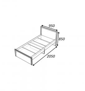 Кровать «Классика 800″( дуб выбеленный)без ящиков