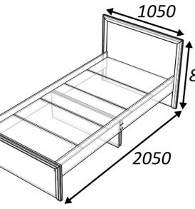 Кровать «Классика» 900 ( дуб выбеленный)