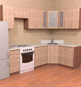 Кухня угловая «Вега» (МДФ)