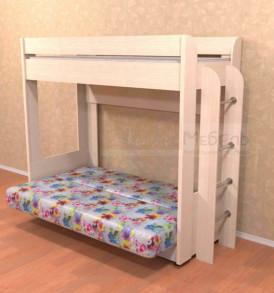 Диван-кровать «Омега» (красн. цветы)