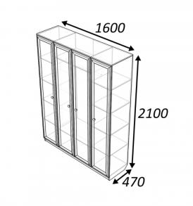 Шкаф  4х дверный «Классика» 4.0( дуб выбеленный)