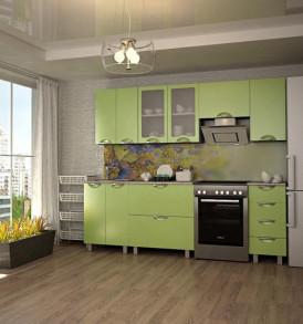 Кухня «Мадена-1.50″  (белый/олива)