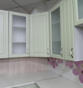 Кухня угловая «Прованс» 1.30*1.80(фисташковая)- модульная
