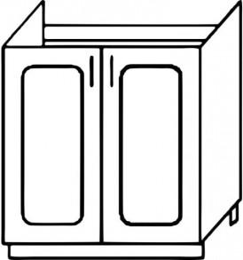 Кухня «Агава»МДФ лиственница светлая/темная- модульная Стол М-600