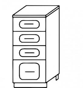 Кухня «Агава»МДФ лиственница светлая/темная- модульная Стол Н300-4я