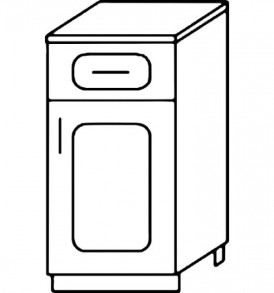 Кухня «Агава»МДФ лиственница светлая/темная- модульная Стол Н300-1я