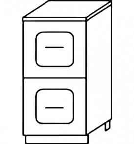 Кухня «Агава»МДФ лиственница светлая/темная- модульная Стол Н400-2я