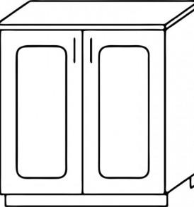 Кухня «Агава»МДФ лиственница светлая/темная- модульная Стол Н 600