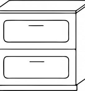 Кухня «Агава»МДФ  Стол Н800-2я( лиственница светлая или темная)- модульная