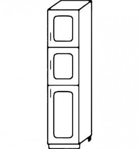 Кухня «Агава»МДФ лиственница светлая/темная- модульная П400