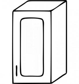 Кухня «Агава»МДФ  Шкаф В-300( лиственница светлая или темная) — модульная