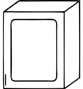 Кухня «Агава»МДФ  Шкаф В-500 ( лиственница светлая или темная) — модульная