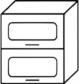 Кухня «Агава»МДФ лиственница светлая/темная-модульная Шкаф В-600Г